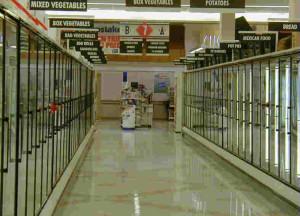 wide aisle