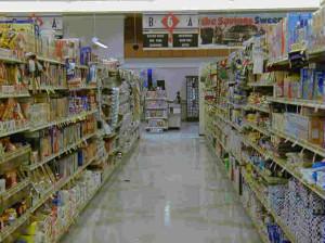 narrow aisle